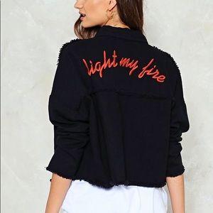 Nasty Gal Light My Fire Denim Jacket